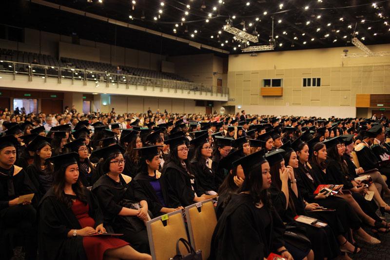 The graduates consist of undergraduate and postgraduate students.