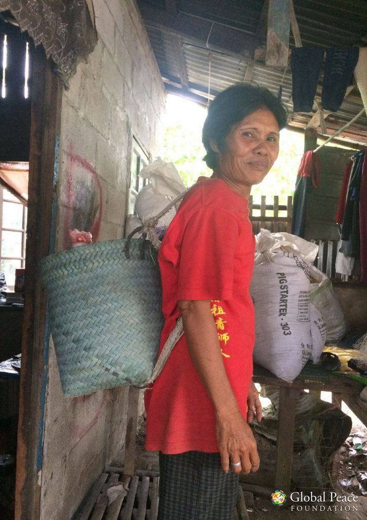 Rita walks 3km daily to the market carrying 10 litres (equivalent to 10kg) of water on her back. This water is used for drinking and can only last a day.