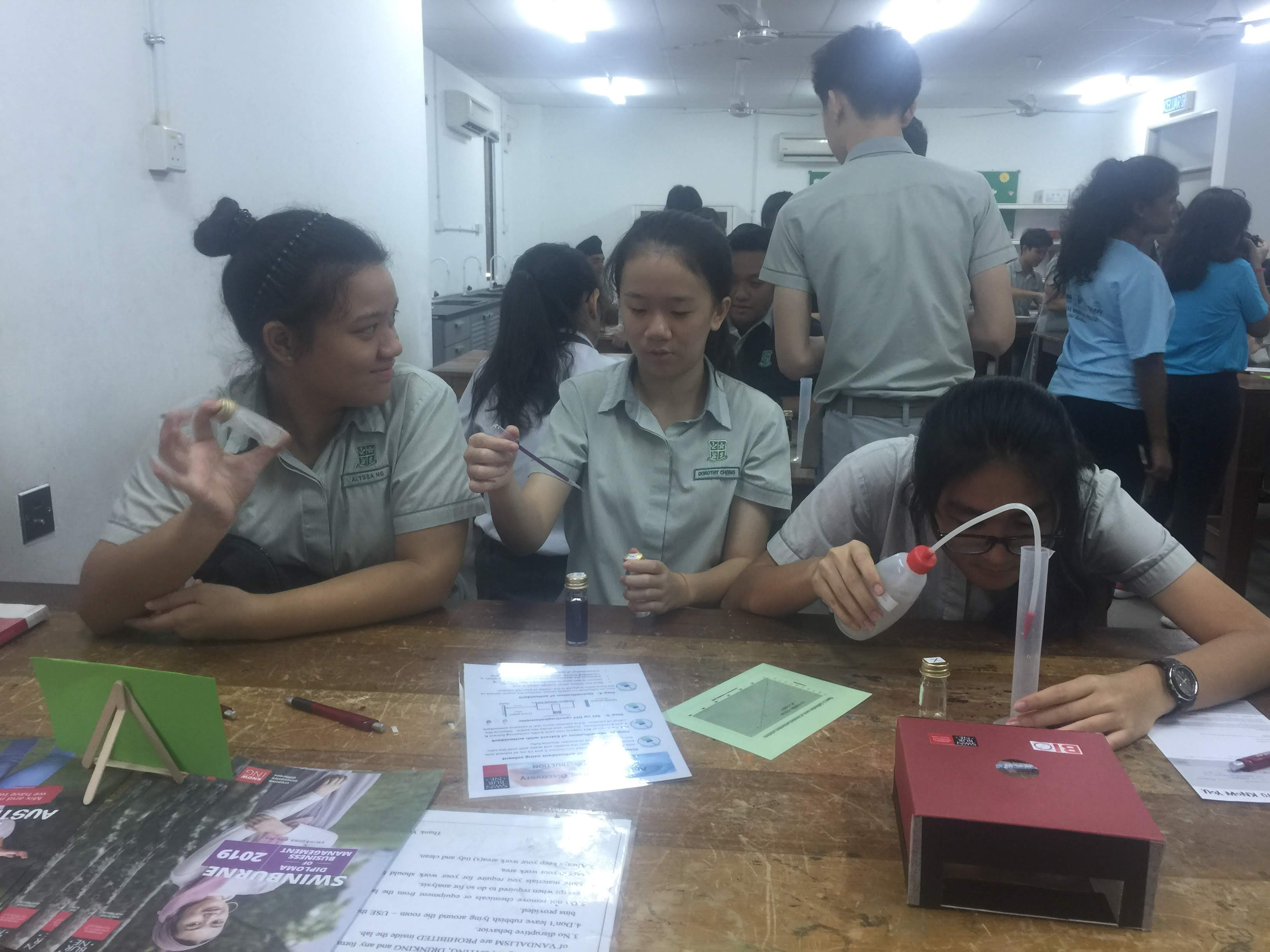 Students engaged in their hands-on activity during the workshop