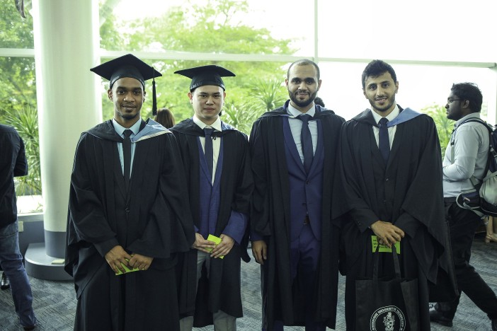 The graduates also comprised international students from over 10 countries.