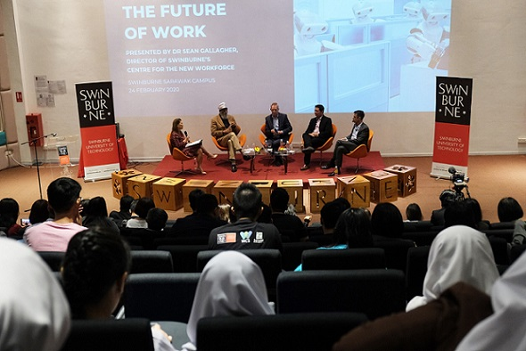 The forum held at the Swinburne Sarawak campus in Kuching attracted over 150 participants.