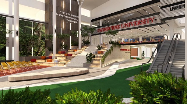 The Borneo Atrium will be the heart of the campus.