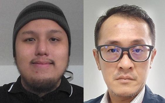 Awangku and project supervisor Dr Chai.