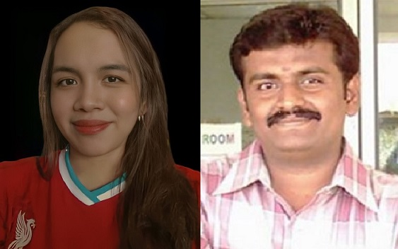 Shanty and project supervisor Dr Saravana.
