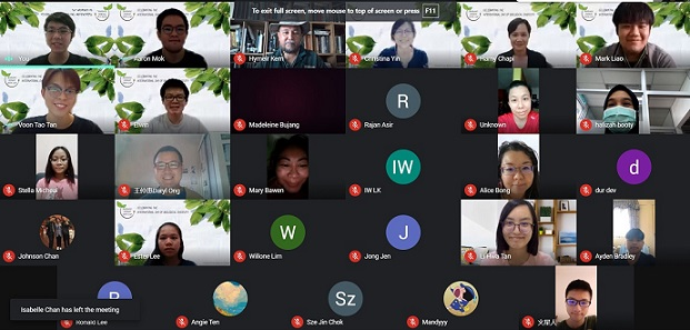 Screenshot photo of the attendees at the end of the online celebration.
